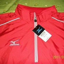 日本販售~全新~美津濃短袖風衣一件~紅色~非實戰球、中華隊、兄弟象、經典賽