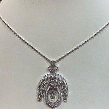 總重70分天然鑽石項鍊,手工訂製珠寶,搭配義大利14K金項鍊墜台,超值優惠價28800元,復古華麗款式,現貨商品只有一個