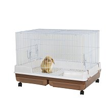 SNOW的家【現貨】【免運$3980】Marukan雙抽屜式精緻兔籠-茶色 MR-999(81291352