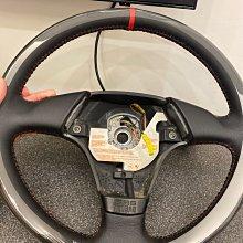 黑皮紅線定位紅色方向盤專業換皮客製化