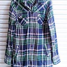 (((最後出清!!))) 二手 ~ NET 綠色格紋 保暖法藍絨 長版襯衫 (4)