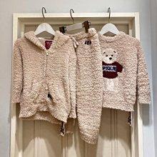 G412軟綿綿 泰迪熊 連帽外套+長褲 套裝   情侶套裝 居家服套裝  親子套裝   gelato pique兒童