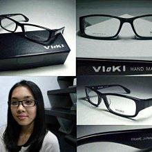 信義計劃 VIOKI 819 日本 手工眼鏡 黑色方框 方形膠框 optical eyeglasses frames