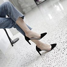 DANDT 2018新款尖頭透明拼接淺口高跟鞋  (APR) 同風格請在賣場搜尋 REG 或 歐美鞋款