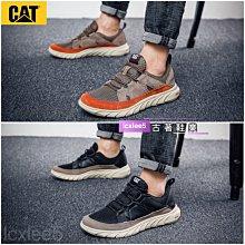 CAT 男士最新款休閒運動鞋軟底繫帶運動鞋 黑色 39-44碼