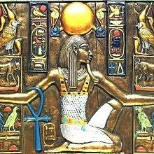 [ Vero 手工彩繪-埃及歷史壁雕 複製裝飾岩板-宇宙法觀 ]-Egypt埃及古文明.【預訂品】