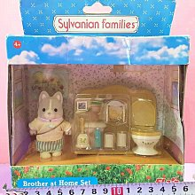 【Mika】森林家族 哈士奇 廁所馬桶組(盒損)*現貨 Sylvanian Families
