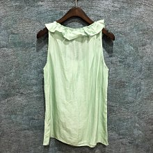 Maple麋鹿小舖 Banana Republic * Banana 綠色無袖荷葉設計上衣 * ( 現貨XS號 )