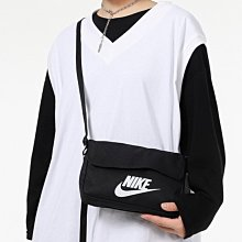 【Dr.Shoes】Nike NSW Side backpack black 側背包 小包 黑 CW9300-010