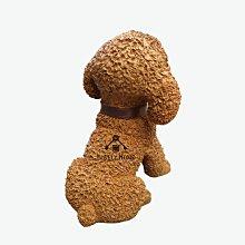 (台中 可愛小舖)鄉村風吐舌紅貴賓咖啡色深棕色小狗波麗娃娃擺飾小型犬寵物用品店寵物美容看門狗仿真狗狗店面民宿飯店下午茶用