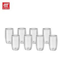 德國雙人Zwilling 八件組 350ml*8 雙層 隔熱 玻璃杯 咖啡杯  耶誕禮物 尾牙贈品