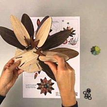 義大利MIHO 進口華麗木製設計花朵壁面掛飾(Flower-Freezing Vibrations)-適新居禮物裝修