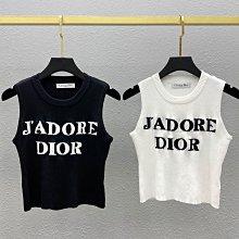 CD Dior 新款冰丝针织背心 4季都百搭的 經典品牌形象 smL,黑色/白色
