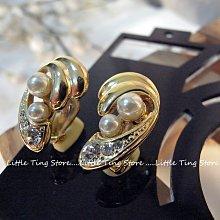 婚禮晚宴禮物施華洛世奇SWAROVSKI 德國古董珠寶大珍珠+小珍珠 珠光珍珠K金屬耳環夾式耳環貼耳夾耳飾