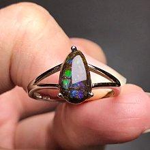 天然斑彩石戒指 水滴形斑彩螺斑彩菊石簡約百搭款925銀活圍戒指 飾品配件《舒唯水晶》
