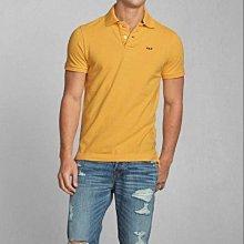 美國Abercrombie & Fitch男裝COOPER KILN POLO M號復古黃型男超愛經典合身網眼短袖衫含運