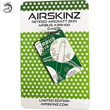 九州動漫 英國Airskinz限量行李牌鑰匙扣掛件空客319 Germania德航飛機蒙皮