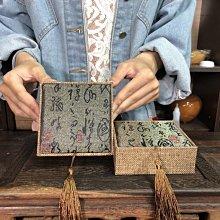 【居寶屋】精選 流蘇絨布盒 錦盒 首飾盒 珠寶盒 中國風 收納盒 禮物盒 珍藏盒 一件一標