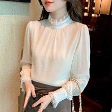 初秋雪紡襯衫女裝春秋裝2021年新款潮漂亮時尚的小衫減齡洋氣上衣