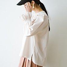 haco! 21春季新品 獨特別緻 中國風鈕扣 甜美寬鬆 糖果袖上衣  (現貨款特價)