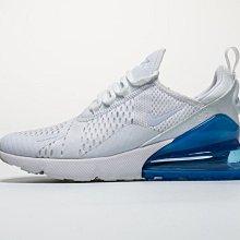 D-BOX  NIKE AIR MAX 270 編織 透氣 氣墊 慢跑鞋 白藍