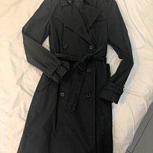 8成新 GAP 黑色風衣 中長款 風衣 US8