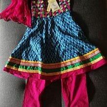 全新 女童印度民族風套裝 長裙+燈籠褲+頭紗 120-130cm