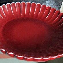 古藝閣 大明宣德  胭脂水釉 菊瓣盤
