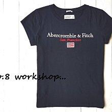 【A&F女生館】☆【Abercrombie美國國旗LOGO刺繡短袖T恤】☆【AFG002L2】(XS-S-M)4/19
