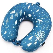 日本 旅行小物 U型記憶頸枕 飛機枕 旅行枕 護脖枕 記憶棉 低反發 可拆洗 北歐風 北歐森林