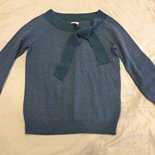 九成新專櫃真品~ine藍色綁帶七分袖針織上衣SIZE:F~~台北市/新店區可面交