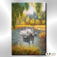 【放畫藝術】天鵝18 純手繪 油畫 直幅 黃褐 暖色系 掛畫 和諧 溫和 優雅 振翅起舞 裝潢設計 藝品 客廳 臥室