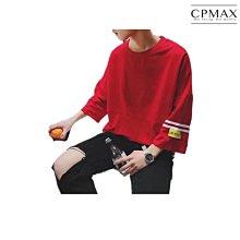CPMAX 韓系寬鬆五分袖短T恤 五分袖短T 嘻哈寬鬆T 男短T 五分袖上衣 韓系寬鬆短T 男短T 韓版T恤 T104