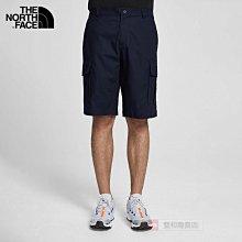 -滿3000免運-[雙和專賣店] THE NORTH FACE 男 戶外休閒風格短褲/4U97/海軍藍