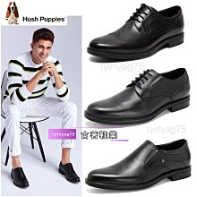 正品Hush Puppies新款專櫃同款牛皮商務正裝德比鞋男皮鞋 黑色 39-44碼