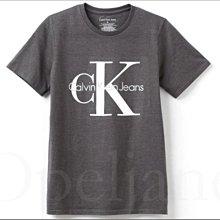 特價799 Calvin Klein CK 卡文克萊灰色大童短T恤上衣棉短青少年款M號10歲11歲12歲愛Coach包包