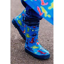 美國 OAKI 兒童提把雨鞋 11521藍恐龍