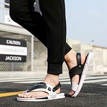 【夾趾款】沙灘男涼鞋新款青少年個性透氣輕便日系簡約涼拖鞋