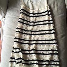 小闆娘訂製黑白荷葉編織洋裝