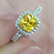 實驗室黃鑽金鵝黃鑽石珠寶首飾925純銀包白金戒指微鑲主鑽1克拉高碳鑽石肉眼看是真鑽超低價鉑金質感可通過測鑽莫桑鑽寶特價優惠