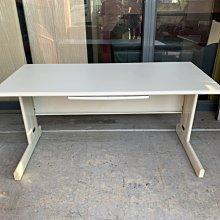 香榭二手家具*灰白面HU150cm 5尺辦公桌含文筆抽屜-業務桌-會議桌-會計桌-電腦桌-工作桌-OA鐵桌-事務桌-書桌