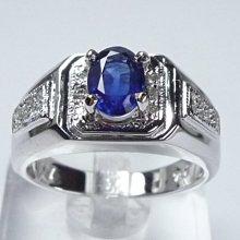 【連漢精品交流中心】《天然藍寶石 1.05CT 》14白K金設計款奢華 藍寶石鑽戒
