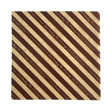☆║IRIS Zakka║☆ 日本 Wax Paper 食品包裝紙 咖啡條紋 (15×15cm)20枚入