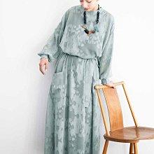 MEDE19F 人氣款 21春夏新色  正反兩穿 美麗的緹花陰影 長袖連身裙&薄外套 (現貨款特價)