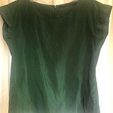 Giordano ladies 翡翠綠 半短袖緞面襯衫 2