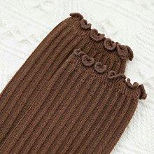 Maisobo 韓 秋冬 超美木耳邊坑條百搭中統襪 襪子 6色  TA-265 預購