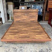 香榭二手家具*全新精品 工業風積層木標準雙人5x6.2尺收納掀床組(含插座床頭片)-掀床架-六分板床箱-床片-床底-床板