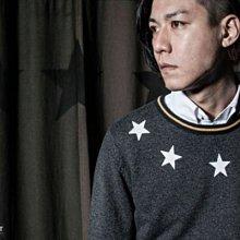 CABAL STARS SHINING  O-NECK CARDIGAN M號 針織襯衫 黑 非REMIX