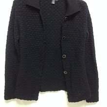 百貨專櫃慶百JIN 黑色鏤空毛衣外套38號