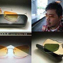 【信義計劃眼鏡】全新真品 VOGUE 太陽眼鏡 義大利製 銀色金屬無框 超越Chanel香奈兒Ray Ban雷朋飛行員款